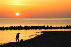 島尾海岸の日の出