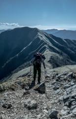The top of Mt. Tsurugi
