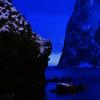 日暮れ時の大黒岩