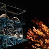 秋の夜長に立坑櫓