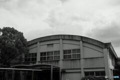記憶に残る半世紀前の風景を探す自転車散歩 中学校体育館