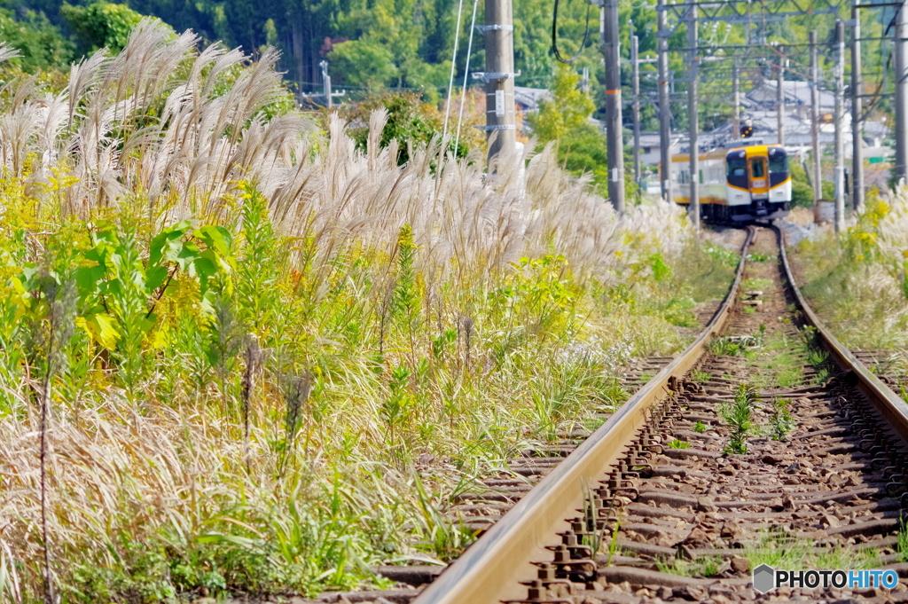 晩秋の鉄路