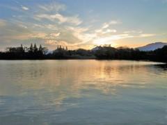 鈴鹿山脈に沈む日