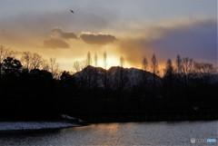 冬の日没2