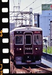 阪急電車 パ-フォレ-ションを添えて