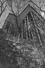 石垣と足場