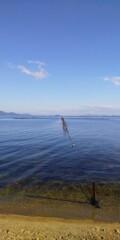 穏やかな湖面