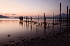 支笏湖の朝