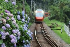 登山鉄道線を走行するGSE