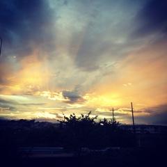台風明けの夕焼け