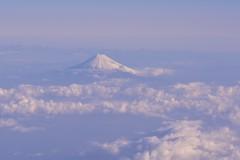 飛行機の窓からの、嬉しい眺望
