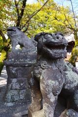 大分ちょっと観光 臼杵散歩 八坂神社 入口にいたので取り合えず一枚