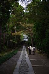 Kamakura散歩 寿福金剛禅寺 紙を落としましたよ