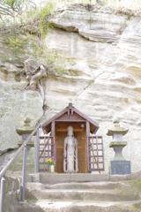 Kamakura散歩 英勝寺 階段の上にある観音様