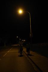 チェコ 夜道を歩いて帰宅