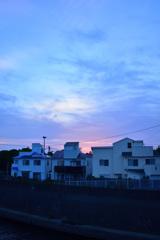 夕空の色、雲の色
