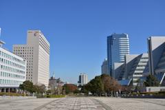 未来都市の広場