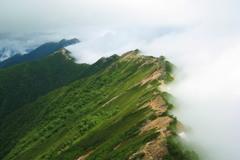北アルプス 燕岳からの縦走路