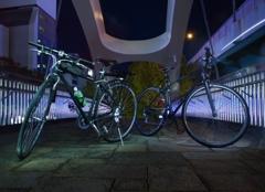 自転車をライトアップ