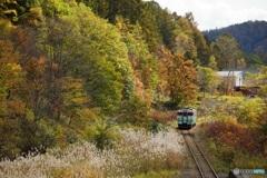 秋の夕張線
