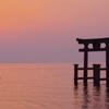 琵琶湖に日が昇る