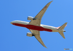 「ブルー」 Air India 787-8 VT-AND 出発です