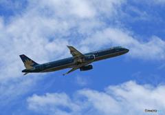 ☀「青い空」が一番 Vietnam A321-231 飛ぶ