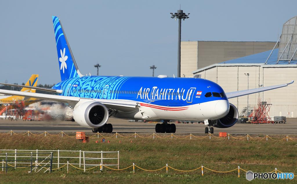「良い天気」Air Tahiti Nui 787-8  出発です
