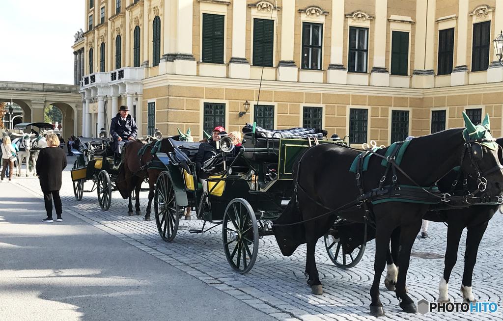 ウイーン (464)シェーンブルン宮殿前の乗り物