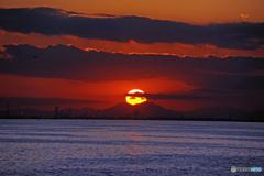 ☮ 思い出の1枚 「夕焼け雲」と「大五郎」☮