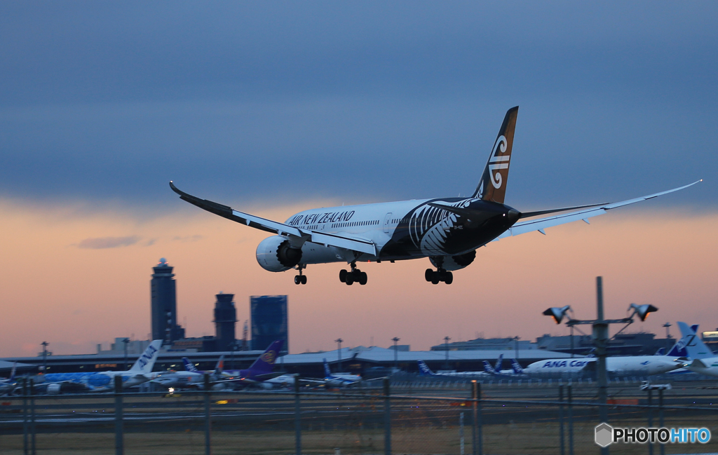 「はれ」  NZ' 787-9 通過