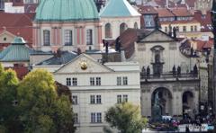 チェコ(401)プラハの街・切り絵
