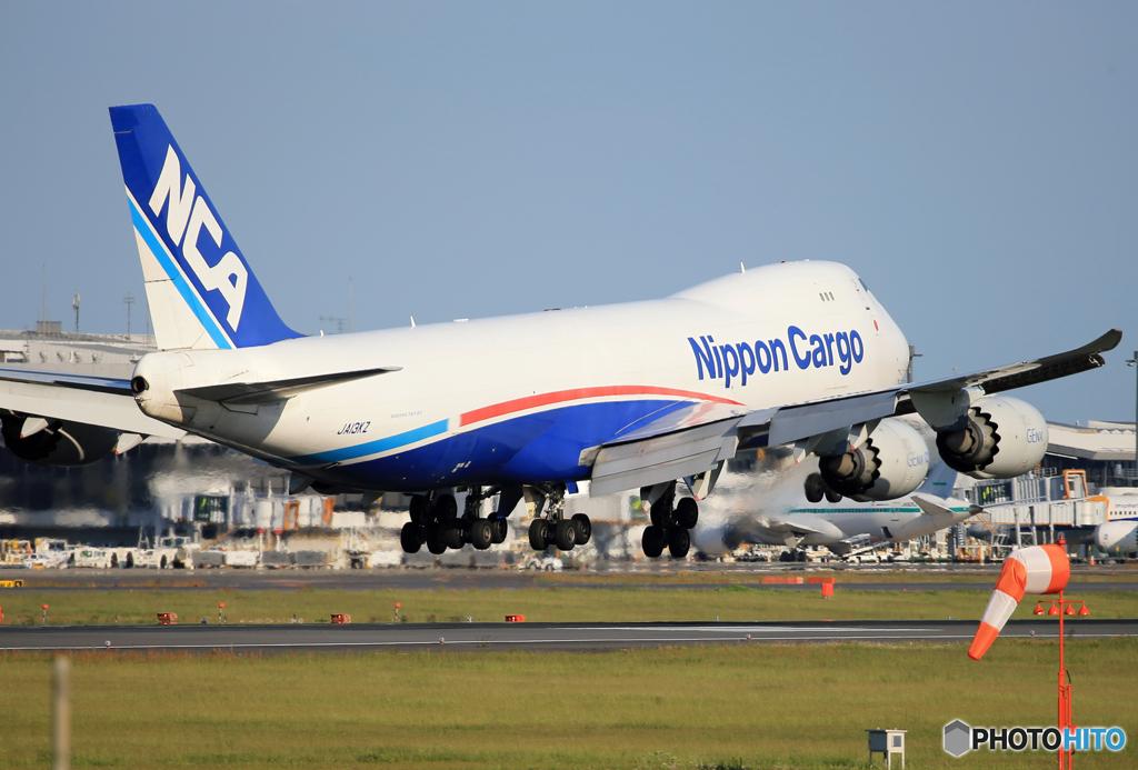 「蒼空」NCA 747-8KZF JA13KZ 着陸です