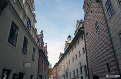 チェコ南部(505)街並みはチェスキー・クルムロフです