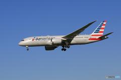 「晴れ」 American 787-8 N812AA 着地前