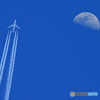 「SKY」 大型機 と 10,000m+月