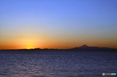 「青色が好き」☀  東京湾の夕景 Fuji  ☀