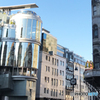 オーストリア(548)ウイーンの大きな丸い鏡!