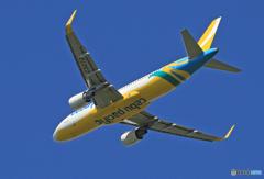 「青が大好き」 CEBU A320-214 RP-C3272 飛び立ち