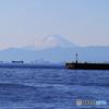 「良い空~」薄っすらと富士山が見える日