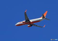 「青い空」が一番 JEJU 737 HL8090  Takeoff