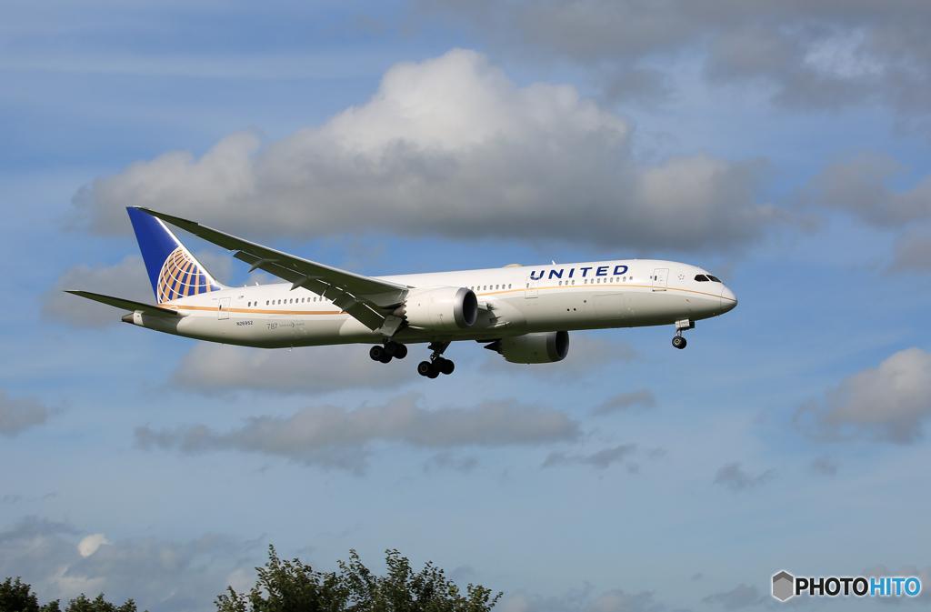 「青が好き」 UNITED 787-9 N26952 到着です