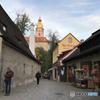 チェコ南部(677)チェスキー・クルムロフの街を歩く