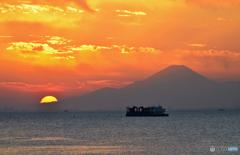 ☀☀  富 士 山 と 夕 景 ☀☀