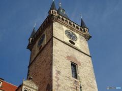 チェコ プラハ(306)天文時計の上も時計