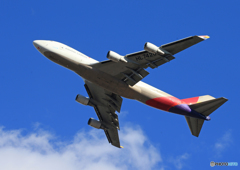 「そらー」 Asiana 747-400 HL7420 離陸します