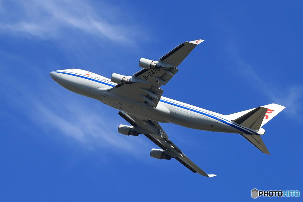 ☀「青い空」が一番 China 747-400  出発