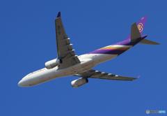 「ぶるー」 THAI A330-343 HS-TBB飛び立ち