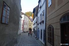 チェコ南部 (654)チェスキー・クルムロフの街を歩く