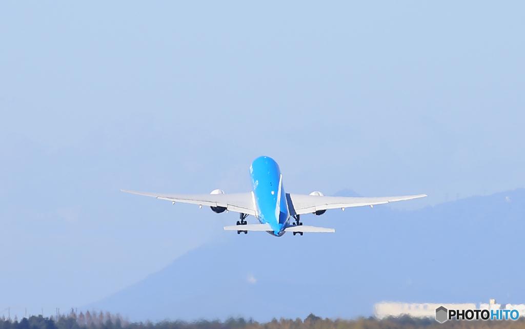 「青色が好き」KLM 777-206 PH-BQF 飛行